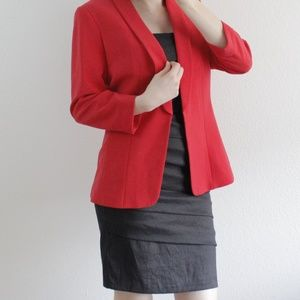 H&M cherry red blazer